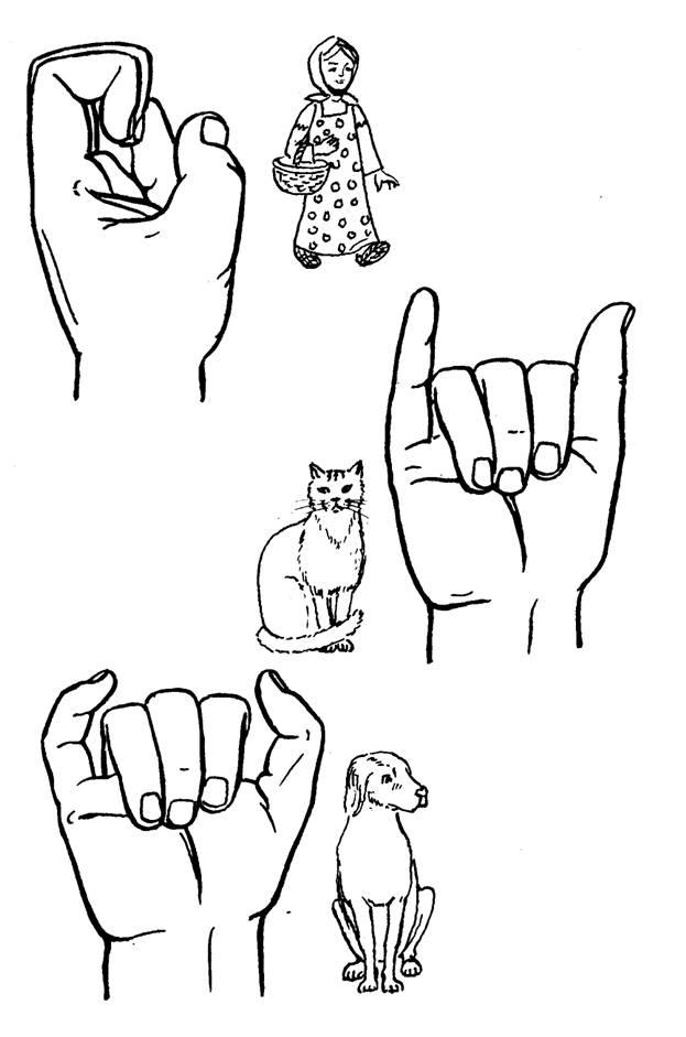 Пальчиковая игра замок в картинках