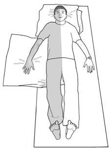 Укладка на спине